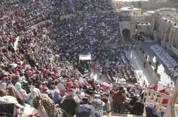 الفرقة الهاشمية تتألق في مهرجان جرش