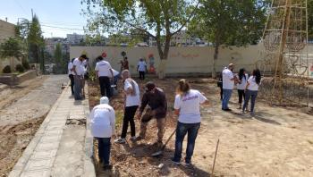 مبادرة لزراعة الأشجار بحديقة البقيع التابعة لبلدية السلط