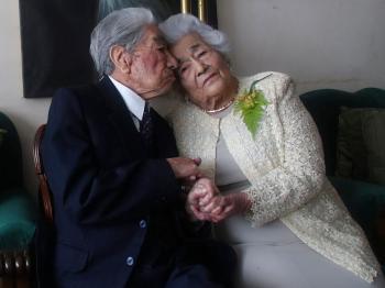 نهاية قصة أكبر زوجين في العالم ..  عمرهما معا 215 عاماً
