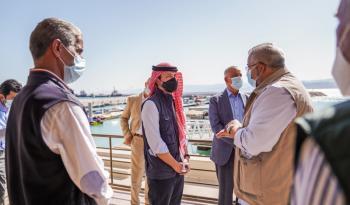 ولي العهد يفتتح مشروع تطوير ساحة الثورة العربية الكبرى بالعقبة