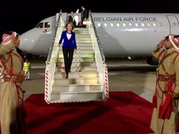 ملكة بلجيكا تصل عمان