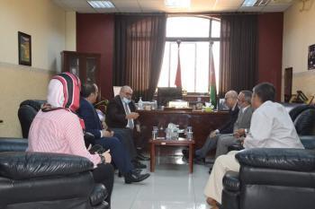 رئيس الجامعة الهاشمية يطلع على استعدادات الجامعة لاستقبال الطلبة الجدد