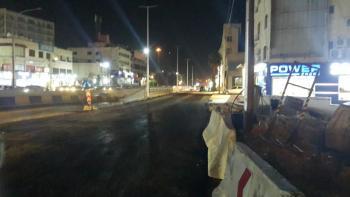 عودة الحركة المرورية إلى طبيعتها في شارع عبدالله غوشة