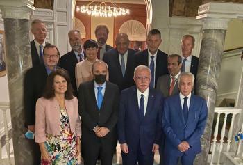 الصفدي ونظيرته السويدية يعقدان اجتماعا تحضيريا لمؤتمر الأونروا