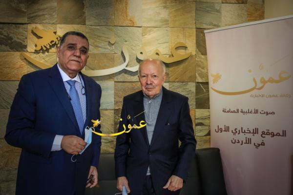 السفير الناصري وسمير الحياري (تصوير احمد رشاد)..