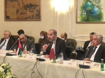 الصفدي يشارك باجتماع متابعة مخرجات مؤتمر بغداد