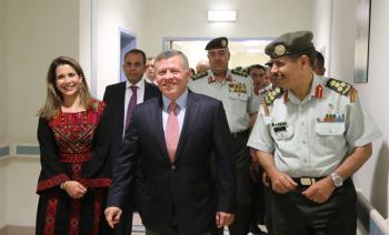 الملك ترافقه الأميرة هيا لافتتاح مستشفى في عجلون