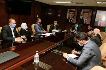 سعيدان يلتقي رئيس واعضاء مجلس محافظة الطفيلة