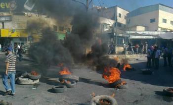 احتجاجا على الانتخابات ..  أعمال شغب في طيبة اربد