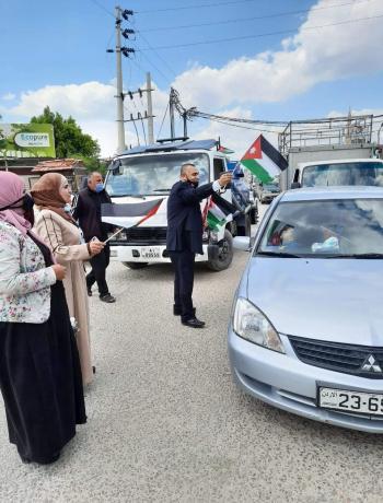 الأغوار الشمالية: حملات لتوزيع العلم الأردني احتفاء بالمئوية