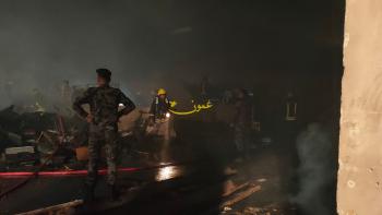 حريق كبير في الجامعة الأردنية (فيديو، صور)