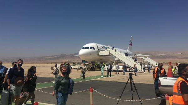 طائرة سياحية تحط بمطار الملك الحسين في العقبة - ارشيفية