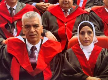 ترقية الدكتور غازي ابو قاعود والدكتورة فاطمة الربابعة لرتبة استاذ دكتور