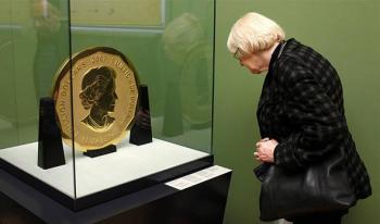 سرقة قطعة نقدية من الذهب وزنها 100 كيلوغرام