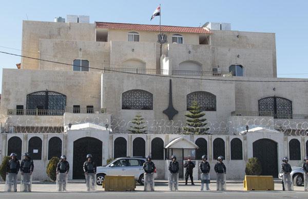 السفارة السورية بعمان تصدر بيانا حول العدوان