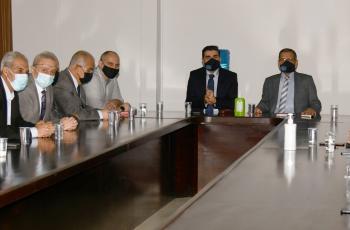 الدكتور السالم يلتقي أعضاء هيئة التدريس بقسم الهندسة المدنية