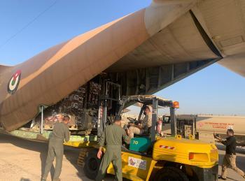 ضمن الجسر الجوي ..  طائرة مساعدات أردنية رابعة إلى لبنان