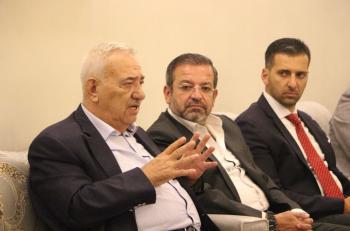 جلسة حوارية بين ناصر الدين ونقيب المحامين وأعضاء مجلس النقابة