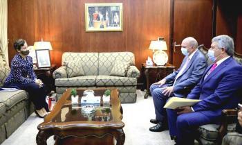 الفايز يلتقي سفيرة الاتحاد الاوروبي لدى المملكة