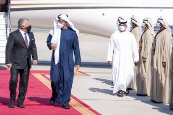 ولي عهد أبو ظبي: علاقات راسخة تجمع بين الأردن والامارات