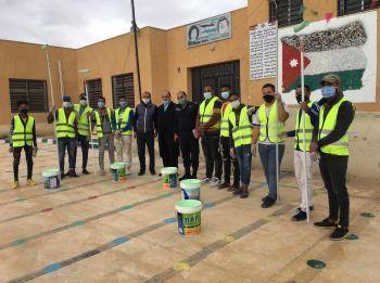 مبادرة لطلاء وتزيين المدارس في الأغوار الجنوبية