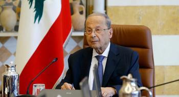 الرئيس اللبناني يتطلع لايجاد حل لأزمة النازحين السوريين
