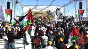 آلاف الفلسطينيين في غور الأردن رفضا لخطة الضم (صور)