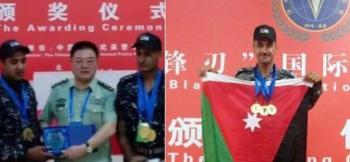 الملازم ابراهيم العجرمي يحصد ذهبية القناص العسكري في بكين