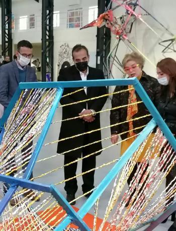 افتتاح المعرض الفني للتغيير البيئي في جاليريا راس العين