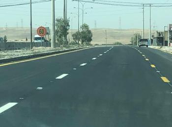 الأشغال تعلن فتح مقطع إرينبة على الطريق الصحراوي
