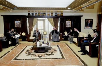 أ.د. ساري حمدان يستقبل الملحق الثقافي الكويتي