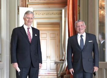 الملك يبحث مع ملك بلجيكا سبل تعزيز العلاقات بين البلدين