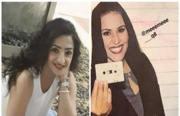 معركة عنيفة من الإهانات بين أحلام وإعلامية مصرية انتهت بنشر كل منهما الصور القديمة