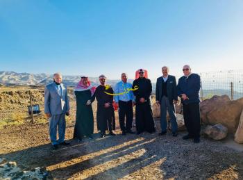 الفايز وبريزات وسفراء دول خليجية في بانوراما البحر الميت