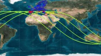 تحديث جديد ..  دول البحر المتوسط في مجال سقوط الصاروخ الصيني