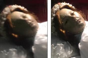 مقطع مريب لجثة فتاة قبل 300 عام عيونها ترمش (شاهد)