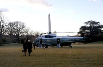 كيف خرج ترامب من البيت الأبيض؟ (فيديو)