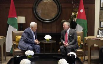 الملك وعباس يبحثان الأوضاع الخطيرة في القدس المحتلة