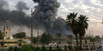 انفجاران عنيفان بمعسكر في بغداد