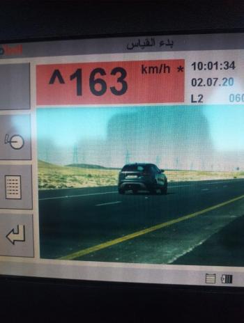 سرعة ماراثونية داخل تحويلة على الطريق الصحراوي