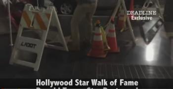 بالفيديو: تحطيم نجمة ترامب بممر المشاهير في هوليوود