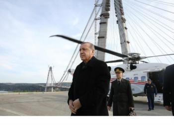 أردوغان يفتتح رابع أطول جسر معلق في العالم
