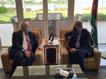 الصفدي يبحث مع ريبيرن مستجدات الأزمة السورية