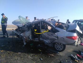 3 وفيات إثر حادث تصادم في معان (صور)