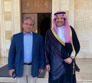 جعفر حسان يستقبل السفير السعودي