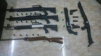 القبض على 7 أشخاص بحوزتهم أسلحة في اربد وعجلون