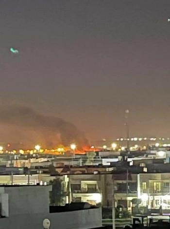 قصف صاروخي لمطار أربيل في كردستان العراق