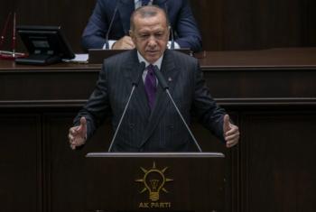 أردوغان يغني طلع البدر علينا (فيديو)