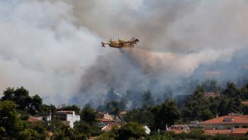 اليونان ..  إخلاء عدد من القرى غربي البلاد مع احتدام حريق الغابات