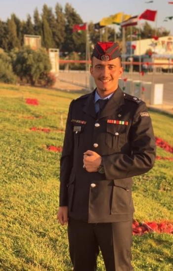 الملازم زيد العبادي ..  مبارك التخرج